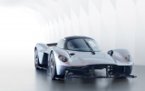 Aston martin valkyrie expensive luxury car in white