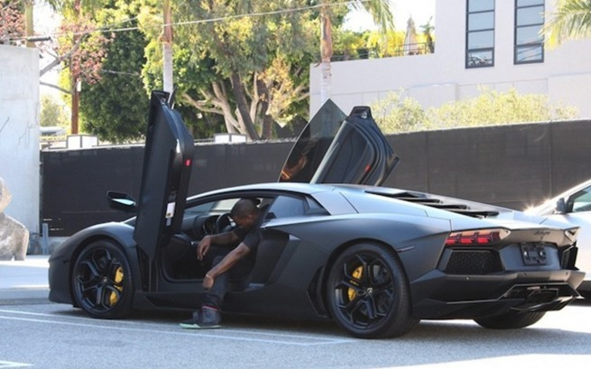 Luxury Car Lamborghini Aventador Kanye West